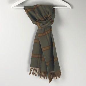 Vintage Burberry scarf plaid pattern lambswool